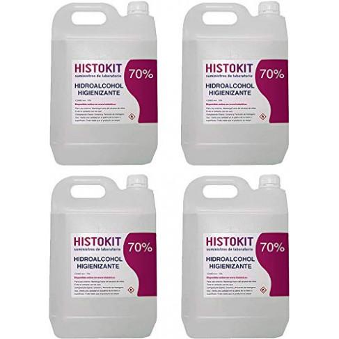 PACK 4 x Solución Hidroalcohólica 5 litros
