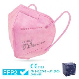 Mascarilla FFP2 ROSA - Caja 25 uds