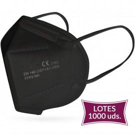 Lote 1000 UDS Mascarilla FFP2 Negra 0,39€/UD