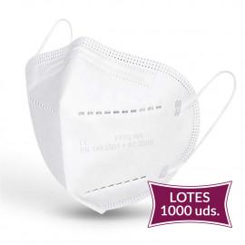 Lote 1000 UDS Mascarilla FFP2 Blanca 0,40€/UD